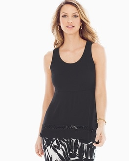 Live. Lounge. Wear. Crochet-Hem Top Black