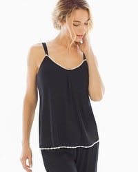 Embraceable Cool Nights Crochet Camisole Black/Ivory