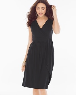 Draped Black Short Dress