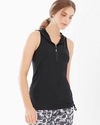 MSP by Miraclesuit Activewear Hooded Tank Black