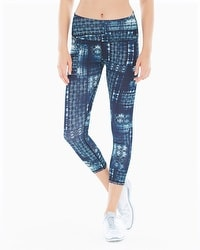 MSP by Miraclesuit Reversible Printed Crop Leggings Black Combo