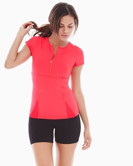 Slimming Miraclesuit Sport Crew Neck Tee Coral