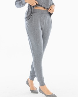 Midnight by Carole Hochman French Terry Lounge Pants Heather