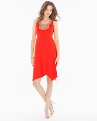 Soutache Sleeveless Short Dress Poppy