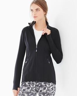 Slimming Miraclesuit Sport Long Sleeve Jacket Black