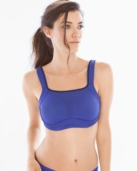 Soma Sport Max Support Underwire Sport Bra Royal Blue/Black