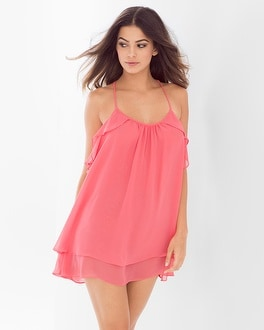 In Bloom Belezia Chiffon Sleep Chemise Coral