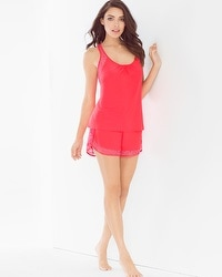 In Bloom Lidia Cami Sleep Shorts Set Coral
