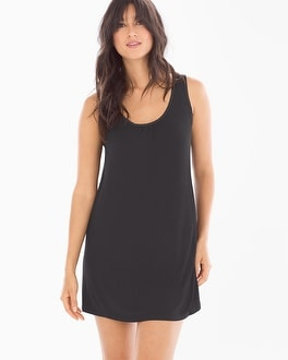 Midnight by Carole Hochman Chiffon Sleep Chemise Black