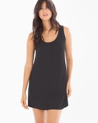 Midnight by Carole Hochman Chiffon Plus Size Sleep Chemise Black