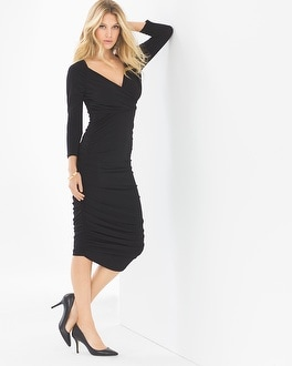Leota Evelyn Midi Dress Black