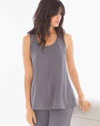 Camellia Lace Sleep Tank Excalibur Grey