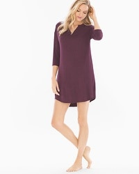 Cool Nights Oversized Sleepshirt Heather Marsala