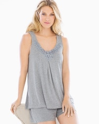 Cool Nights Pajama Tank Heather Silver