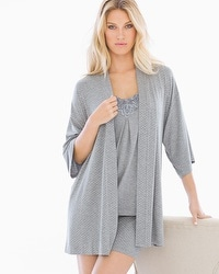 Cool Nights Pajama Cardi Wrap Little Dot Heather Silver