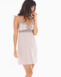 Cool Nights Intricate Lace Sleep Chemise Heather Vintage Pink/Smokey Taupe