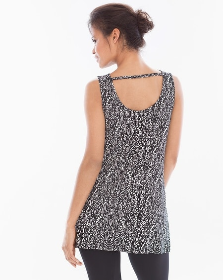 Cowlneck Sleeveless Tunic Splendor Mini Black