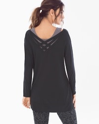 Live. Lounge. Wear. Cross-Back Tunic Black