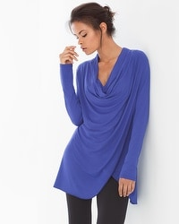Live. Lounge. Wear. Draped-Front Tunic