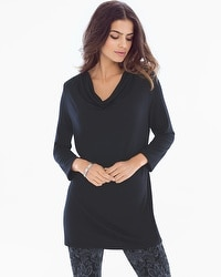 Cozy Drape Tunic Black