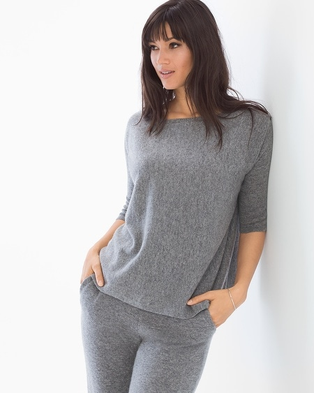 Cashmere/Wool Blend Boxy Sweater