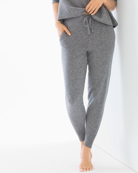 Cashmere/Wool Blend Banded Bottom Pants