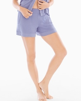 Cool Nights Pajama Shorts Little Dot Blue Chill