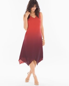 Scarf-Hem Midi Dress Solitude Ombre