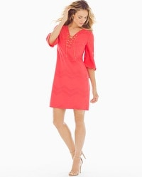 London Times Tunic Dress Coral