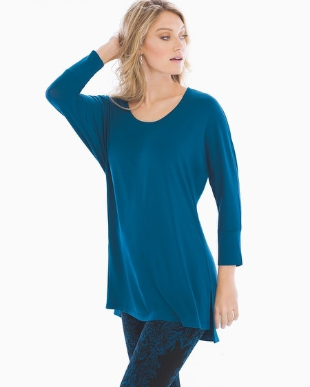 Soft Jersey Tunic with Side Slits