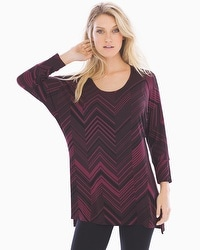 Live. Lounge. Wear. Soft Jersey Tunic with Side Slits