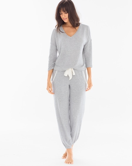 Cozy Lounge Pullover Set Heather Grey