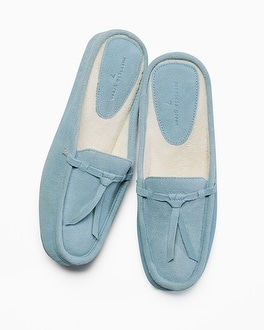 Patricia Green Greenwich Slippers Blue