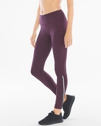 Slimming Miraclesuit Sport Back Zip Leggings Malbec