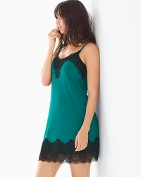Regal Lace A-Line Sleep Chemise Green Envy