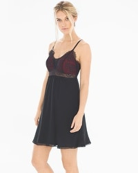 Limited Edition Breathtaking Sleep Chemise Black/Ruby