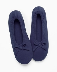 Embraceable Ballet Slippers Navy