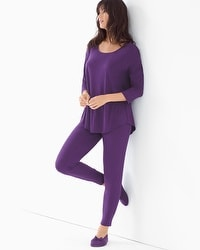 Cool Nights Relaxed Fit Pajama Set Blackberry