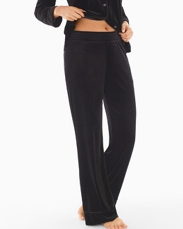 Velvet Pajama Pants Black