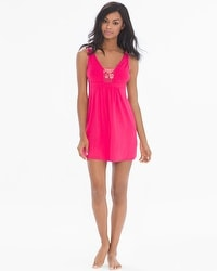 Flirtation Plunging Sleep Chemise Pink Punch