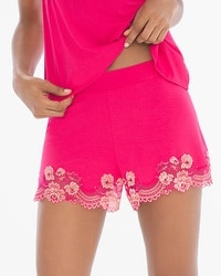 Flirtation Pajama Shorts Pink Punch