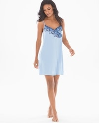 Riviera Scroll Sleep Chemise Serenity Blue