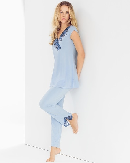 Tunic Pajama Set Serenity Blue