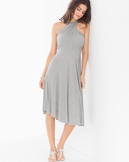 Elan 8 Way Convertible Cover Up Dress Ash
