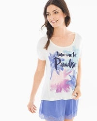 Cool Nights Boxy Pajama Tee Take Me To Paradise