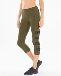 X by Gottex Capri Sport Leggings Olive