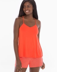 Cool Nights Racerback Pajama Cami Grenadine