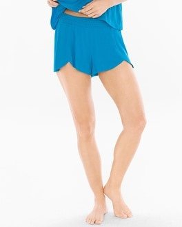 Cool Nights Tulip Pajama Shorts Blue Sea