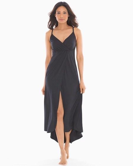 7e7be4c38353d Drapesoft Jersey Tulip Sleeveless Nightgown Black thumbnail image
