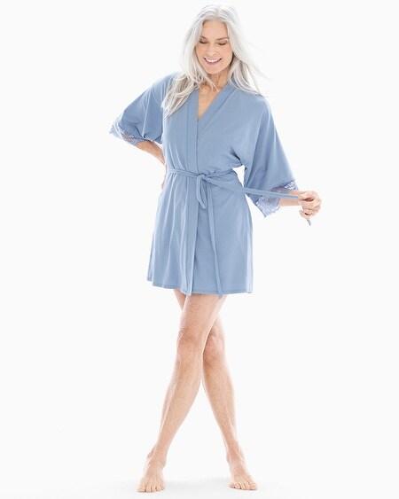 In Bloom Breathe Short Robe Dove Blue ea2abea42